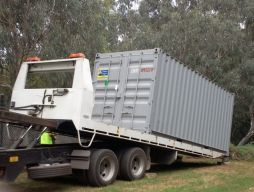 Shipping container arrives